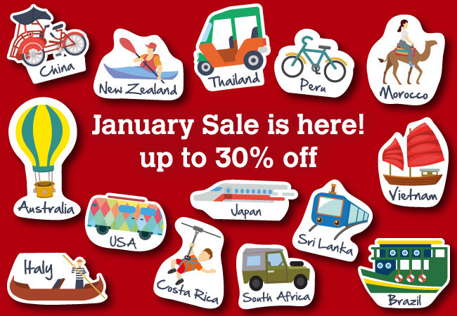 Our best ever January Sale with up to 30% off travel